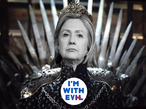 Cartoon: The Dark Queen (medium) by Rob tagged hillary,clinton,us,usa,wahl,election,president,präsident,cercei,game,of,thrones,queen,königin