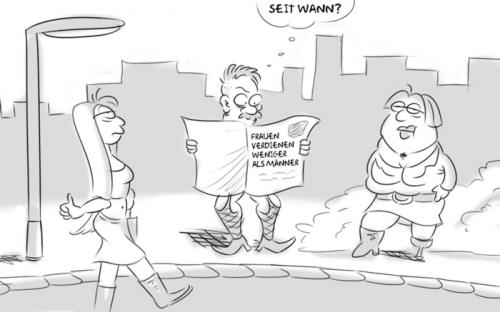 Cartoon: Ungerecht (medium) by Rob tagged callgirl,callboy,strich,prostituierte,zeitung,paper,laterne,rob