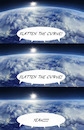 Cartoon: Flatten The Curve (small) by Rob tagged corona,virus,coronavirus,covid,19,curve,flat,flatten,earth,flach,erde,horizon,horizont
