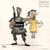 Cartoon: Nigeria..Boko Haram (small) by Khalid Alhashimi tagged education,humanright,extremist,children,africa