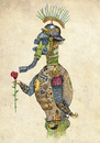 Cartoon: militarist (small) by amorroz tagged war,pacifism,soldier,rose