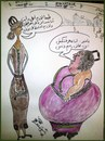 Cartoon: FAT AND THIN (small) by AHMEDSAMIRFARID tagged egyptair,bag,ahmed,samir,farid,cartoon,caricature