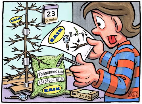 Ikea Weihnachtsbaum.Ikea Weihnachtsbaum Von Oliver Gerke Medien Kultur Cartoon