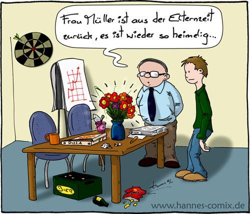 Elternzeit Von Hannes Wirtschaft Cartoon Toonpool