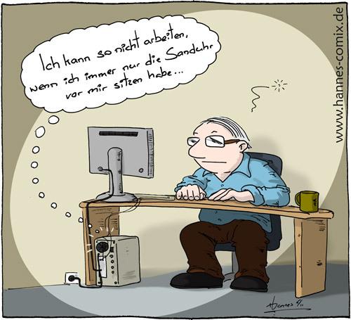 Sanduhr Von Hannes Wirtschaft Cartoon Toonpool