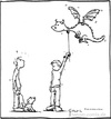 Cartoon: Gassigehen (small) by Hannes tagged hund,gassigehen,drachen,gassi