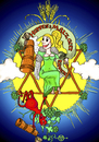 Cartoon: Hopfen  und Malz... (small) by PuzzleVisions tagged puzzlevisions,oktoberfest,bier,beer,pivo,teufel,devil,engel,angel,party,feier,hopfen,malz,sonne,lebensfreude,alkohol,alcohol,fun