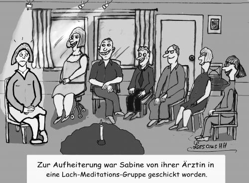 Cartoon: die Lachmeditationsgruppe (medium) by Lars-macht-Art tagged selbsthilfegruppe
