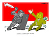 Cartoon: Clashes... (small) by Amorim tagged lockdown,riots,netherland