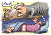 Cartoon: Mauut (small) by thomasvelte tagged maut,seehofer,dobrindt,alptraum,katze,maus,verkehr,auto,autobahn