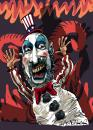 Cartoon: Captain Spalding (small) by Ian Baker tagged sid,haig,captain,spalding,devils,rejects,horror,scary,film,caricature