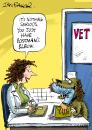 Cartoon: greeting card design (small) by Ian Baker tagged dog,postman,greeting,card,doctor,vet