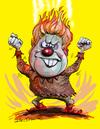 Cartoon: Heat Miser (small) by Ian Baker tagged animation,ian,baker,cartoon,cartoons,film,rankin,bass,horror,felix,francesca,sixties,funny,gag,illustration,puppets
