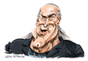 Cartoon: Jesse Ventura (small) by Ian Baker tagged jesse,ventura,caricature,cartoon,james,george,janos,wrestler,wrestling,predator,film,running,man,mayor,politician,conspiracy,theory,governor,minnesota,author,navy,seal,blain,ian,baker,star,celebrity,muscle