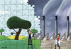 Cartoon: For a greener world (small) by Adene tagged ecolgy,global,warming,green,environment
