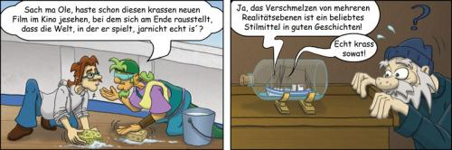 Cartoon: Flaschenschiff - Krabbenjunx (medium) by florianolgi tagged florian,metzner,krabben,krabbenjunx,ole,hering,kai,matjes,olgi,kutter,flaschenschiff,flasche