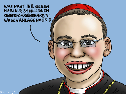 Cartoon: Bischof Franz-Peter Tebartz-van (medium) by marian kamensky tagged bischof,franz,peter,tebartz,van,elst,katholische,kirche,geldmissbrauch,bischof,franz,peter,tebartz,van,elst,katholische,kirche,geldmissbrauch