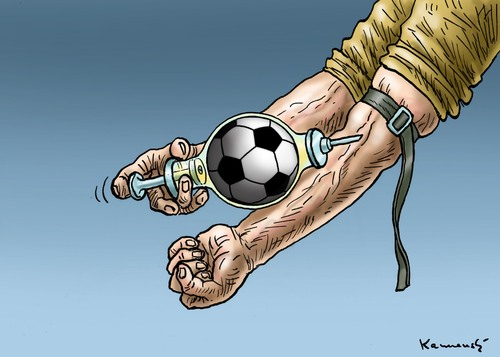 Cartoon: Fussballjunk (medium) by marian kamensky tagged fifa,wm,brasilien,katar,korruption,fussball,sepp,blatter,papst,franziskus,fifa,wm,brasilien,katar,korruption,fussball,sepp,blatter,papst,franziskus