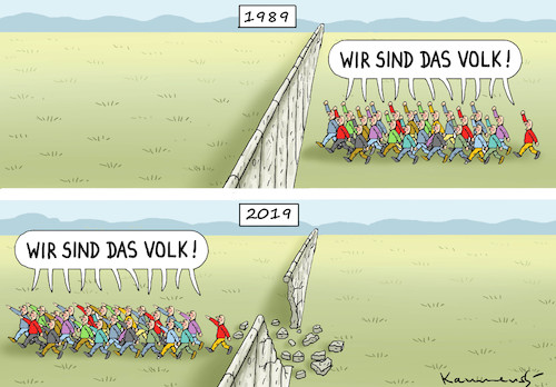 Cartoon: JAHRESTAG-FALL DER MAUER (medium) by marian kamensky tagged brexit,theresa,may,england,eu,schottland,weicher,wahlen,boris,johnson,nigel,farage,ostern,seidenstrasse,xi,jinping,referendum,trump,monsanto,bayer,glyphosa,strafzölle,taliban,brexit,theresa,may,england,eu,schottland,weicher,wahlen,boris,johnson,nigel,farage,ostern,seidenstrasse,xi,jinping,referendum,trump,monsanto,bayer,glyphosa,strafzölle,taliban