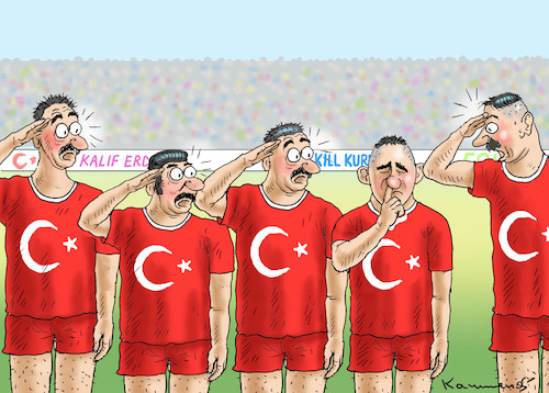 Cartoon: KALIFGRUß VERWEIGERT (medium) by marian kamensky tagged afrin,kurden,erdogan,syrien,aramenien,genozid,präsidentenwahlen,türkeiwahlen,kurdistan,trump,is,afrin,kurden,erdogan,syrien,aramenien,genozid,präsidentenwahlen,türkeiwahlen,kurdistan,trump,is