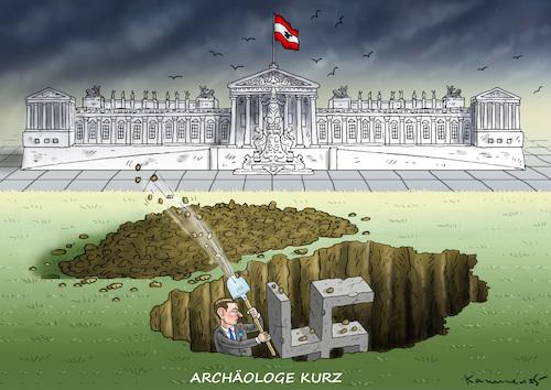 KURZSCHLUSS-ARCHÄOLOGE von marian kamensky   Politik Cartoon   TOONPOOL