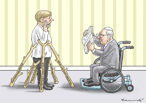 merkels vereidigung von marian kamensky politik cartoon toonpool. Black Bedroom Furniture Sets. Home Design Ideas