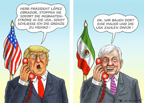 Cartoon: MEXIKO-MAUER (medium) by marian kamensky tagged venezuela,maduro,trump,putin,revolution,oil,industry,socialism,mexikomauer,venezuela,maduro,trump,putin,revolution,oil,industry,socialism,mexikomauer