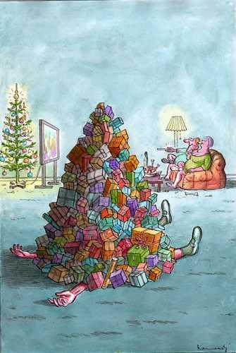 relax christmas von marian kamensky philosophie cartoon. Black Bedroom Furniture Sets. Home Design Ideas