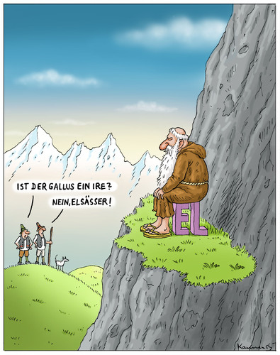 Cartoon: Sankt Gallus (medium) by marian kamensky tagged sankt,gallen,gallus,schweiz,mönch,aus,irland,gallus,gallen,schweiz,mönch,irland,sankt gallus,sankt
