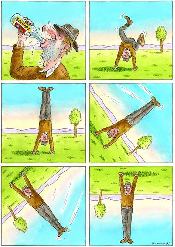 Cartoon: Schnapsidee (medium) by marian kamensky tagged humor,illustration,trinken,alkhohol,bier,alkoholiker