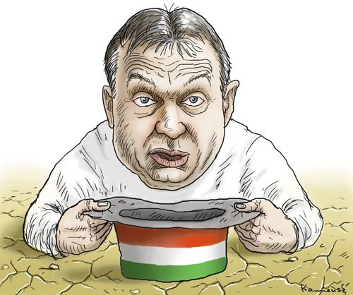 Cartoon: Viktor Orban (medium) by marian kamensky tagged viktor,orban,ungarn,schulden,magyaren,fidezs,viktor orban,ungarn,schulden,viktor,orban