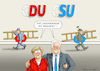 Cartoon: ABSCHAFFUNG DES CHRISTENTUMS (small) by marian kamensky tagged merkel,seehofer,unionskrise,csu,cdu,flüchtlinge