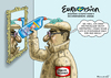 Cartoon: ALTER SCHWEDE XAVIER NAIDOO (small) by marian kamensky tagged alter,schwede,xavier,naidoo,esc,schweden