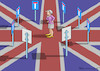 Cartoon: DEAD END CROSSING (small) by marian kamensky tagged brexit,theresa,may,england,eu,schottland,weicher,wahlen,boris,johnson,nigel,farage,referendum