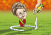 Cartoon: DILMA ROUSSEFF (small) by marian kamensky tagged dilma,rousseff