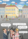 Cartoon: KURZTRIPP IN BRAUNAU (small) by marian kamensky tagged nationalratswahlen,in,österreich,kurz,kern,strache