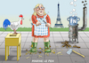 Cartoon: MARINE LE PENNER (small) by marian kamensky tagged präsidenten,wahlen,in,frankreich,terroranschlag,champs,elysees