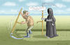 Cartoon: MONSANTO HILFT (small) by marian kamensky tagged helpful,monsanto,glyphosat,krebs