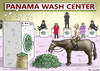 Cartoon: PANAMA WASH CENTER (small) by marian kamensky tagged panama,wash,center