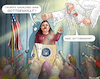Cartoon: SARAH SANDERS (small) by marian kamensky tagged obama,trump,präsidentenwahlen,usa,baba,vanga,republikaner,inauguration,demokraten,wikileaks,faschismus,jamal,khashoggi,shutdown,happy,new,year,2019,sarah,sanders
