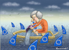 Cartoon: THERESA MAY UND DIE EU HAIE (small) by marian kamensky tagged brexit,theresa,may,england,eu,schottland,weicher,wahlen,boris,johnson