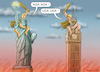 Cartoon: TRUMPS GRATULATION FÜR BORIS (small) by marian kamensky tagged brexit,theresa,may,england,eu,schottland,weicher,wahlen,boris,johnson,nigel,farage,ostern,seidenstrasse,xi,jinping,referendum,trump,monsanto,bayer,glyphosa,strafzölle