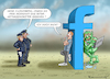 Cartoon: UNSCHULDSLAMM ZUCKERBERG (small) by marian kamensky tagged zuckerberg,facebook,social,media,mobbing,rassismus,g20
