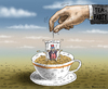 Cartoon: USA Haushaltsdefizit (small) by marian kamensky tagged usa,haushaltsdefizit,tea,party,obama,care,republikaner,staatspleite