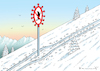 Cartoon: WINTERSPORT-VERBOT (small) by marian kamensky tagged coronavirus,epidemie,gesundheit,panik,stillegung,trump,pandemie