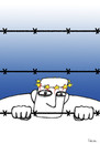 Cartoon: Refugee (small) by dariush ramezani tagged refugee,syria,war,europe