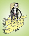 Cartoon: Syria War (small) by dariush ramezani tagged war,syria,bashar