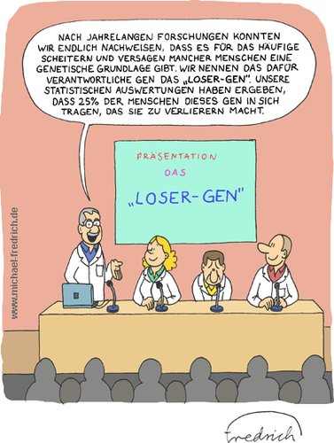Cartoon: Das Loser-Gen (medium) by Fredrich tagged gene,gentechnik,loser,looser