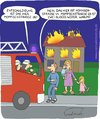 Cartoon: Falsche Adresse (small) by Fredrich tagged feuerwehr,hausbrand