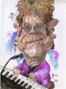 Cartoon: Elthon John (small) by RoyCaricaturas tagged elthon john music famous singer